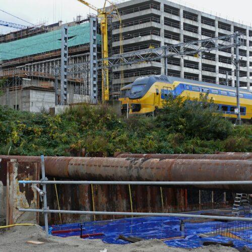 Vibration Monitoring Construction Trains